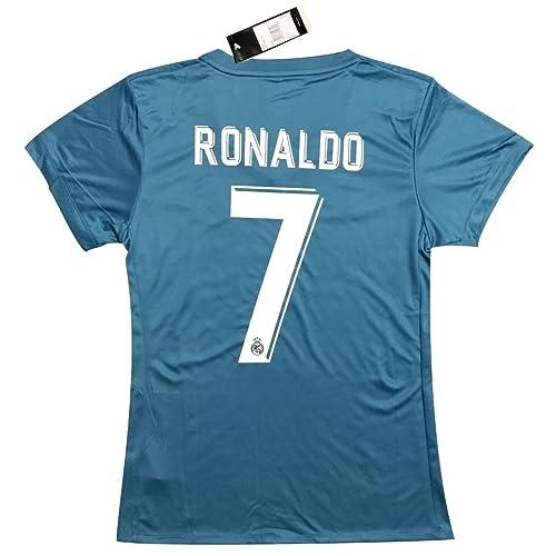 New  7 Ronaldo 2017 2018 Women s Real Madrid 3rd Jersey (Medium) 02cb0335d9757