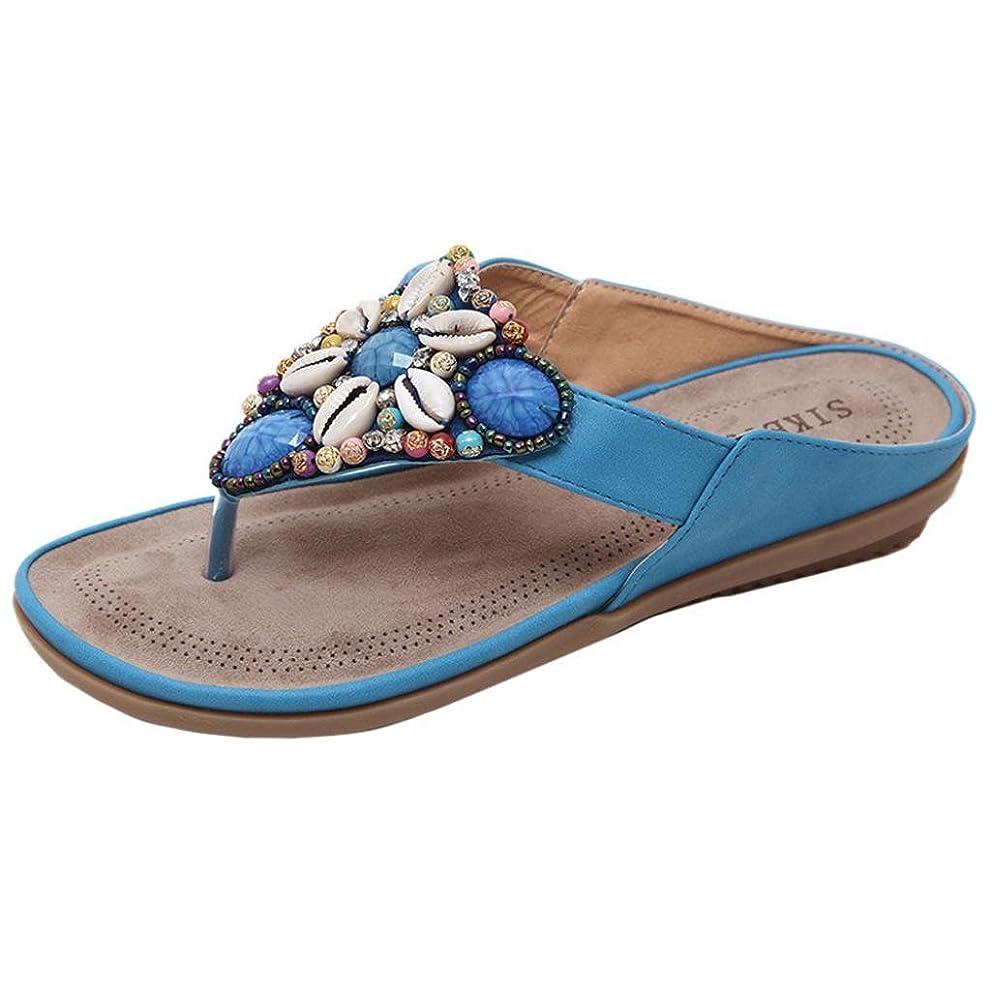 不道徳土曜日ゴネリルフラットサンダルの女性、女性のビーチフラットシューズビーズボヘミアLady Slippeサンダルリベットpeep-toeアウトドアラインストーンフリップフロップソング靴