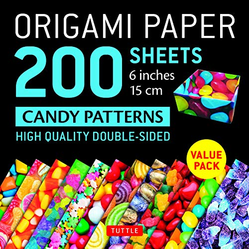 Origami Paper 200 sheets Candy Patterns 6 (15 cm): Tuttle Origami Paper: High-Quality Double Sided Origami Sheets Printed with 12 Different Designs ... Included) (Origami Paper Pack 6 Inch)