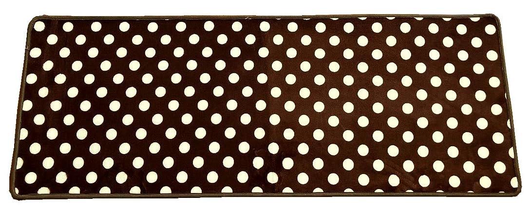 拷問ヒューマニスティック確立しますマルナカ キッチンマット ブラウン サイズ/45×120cm