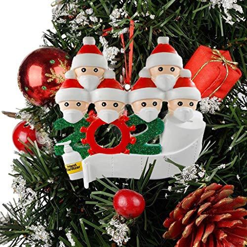 Sallyohno Deko Baumschmuck DIY Mitbringsel Weihnachtsferien Familie DIY Name Gruß Dekoration Schneemann Anhänger Kit (B)