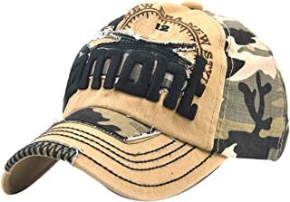 MTFS Women Camouflage Embroidery Letter Hip Hop Baseball Caps Truck Hats