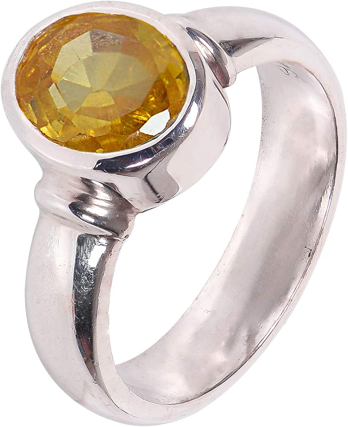 Silverwala 925 Sterling Silver Topaz Limited Special Price Birthstone for Finger Popular overseas Ring