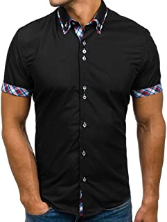 YOcheerful Men's Polo Shirt Tee Top Blouse T-Shirt Business Workwear bar Party