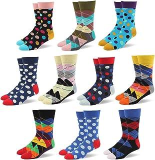 Calcetines De Algodón Calientes De Rayas Y Moda Para Hombre -Disponibles En Varios Colores,10 pares ,color aleatorio
