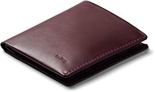 Bellroy Note Sleeve, Slim Leather Wallet, RFID Editions Available (Max. 11 Cards, Bills and Coins) - Wine - RFID