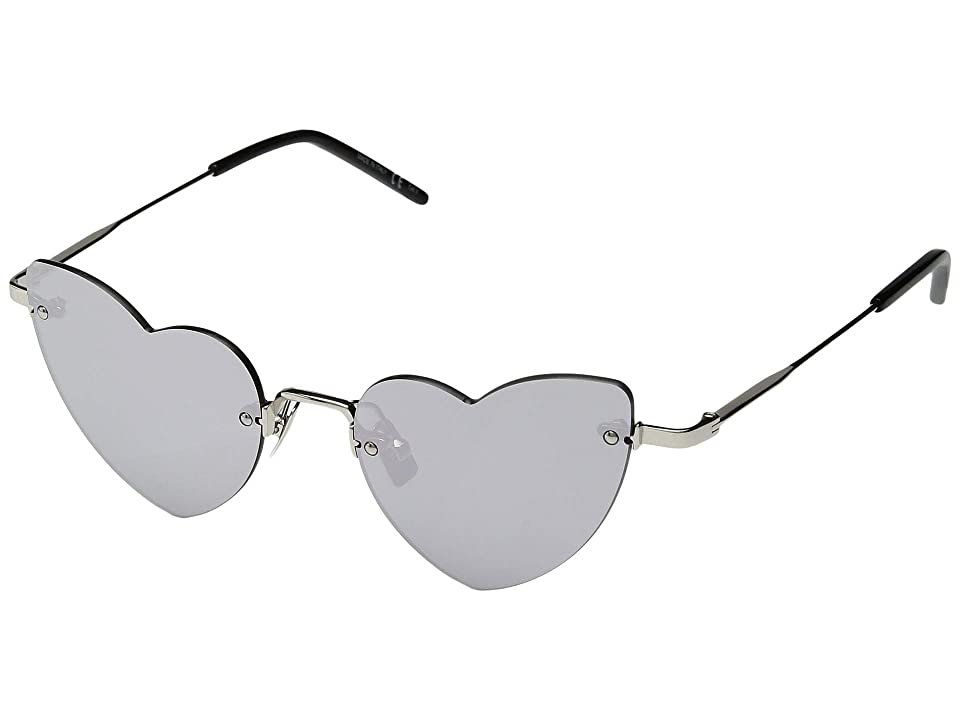 Saint Laurent SL 254 Loulou (Silver/Silver) Fashion Sunglasses