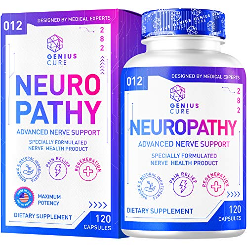Neuropathy Support Supplement - Nerve Pain Support - Perfect for Peripheral Neuropathy - Feet Hand Legs Toe Maximum Strength Nerve Renew Repair Support Formula, 120 Capsules