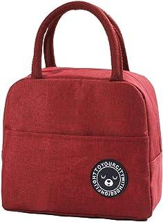 Lunchväska, ZoneYan picknickhandväska, liten cool väska för lunch för kvinnor, mini kylväska för när du är på språng, vikb...