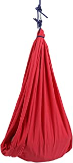 OSLAMP Therapy Swing Sensory Integration Snuggle Cuddle Hammock Indoor Outdoor for Kids Ages 3+ with Autism, ADHD, Aspergers Special Needs Red