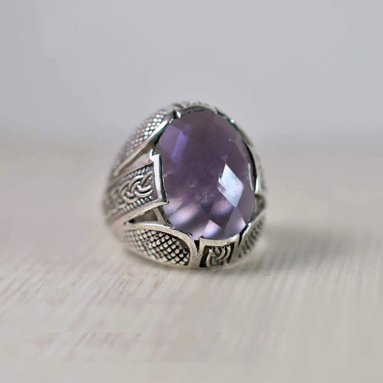 amethyst men security heavy ring Ranking TOP4 925 silver handmade sterling designer