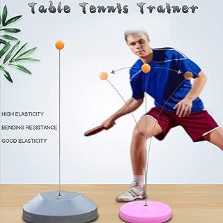 Entrenador de Tenis de Mesa de Eje Suave Elástico Equipo de Práctica de Ping Pong Portátil Robot de Rebote Fitness Adultos