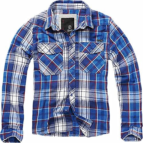 Brandit Check Shirt Herren Baumwoll Hemd L Blau