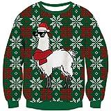 Hässlich Cooler Alpaka Weihnachtspullover