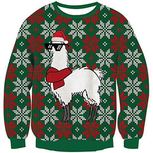 Goodstoworld Ugly Sweater Damen Herren Christmas Sweater Weihnachtspullover Neuheit Familien Unisex Strickpullover Hässliche Xmas Pullover