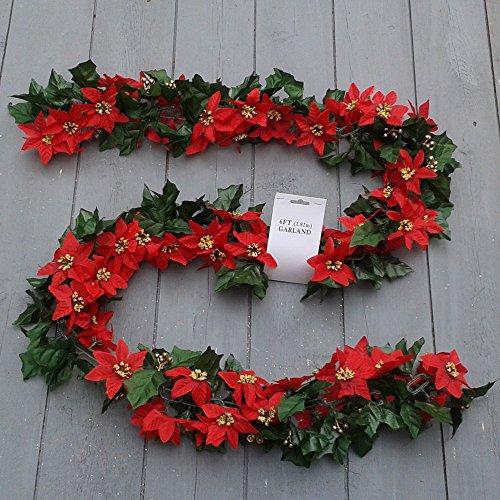Celebrations-Ghirlanda natalizia 1,83 Meters-Catena per scale, caminetti o mirrors