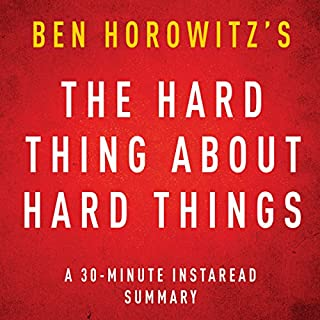 The Hard Thing about Hard Things by Ben Horowitz  cover art