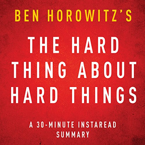 The Hard Thing about Hard Things by Ben Horowitz Titelbild