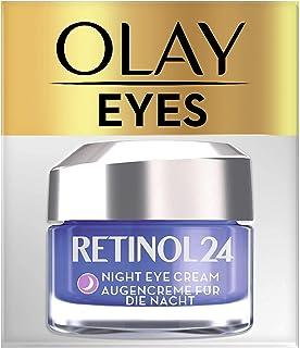 Olay Retinol 24 Crema de ojos de noche Crema facial retinol sin fragancia para una piel suave y radiante 15 ml