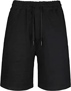 Men's Cotton Drawstring shorts Summer Casual Outdoor Sweatpants with Elastic Waist and Two Deep Pockets
