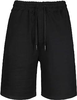 D-Sport Men's Cotton Short Pants - Drawstring Sport Shorts for Men - Casual Shorts Gym Sweatpants with Elastic Waist and T...