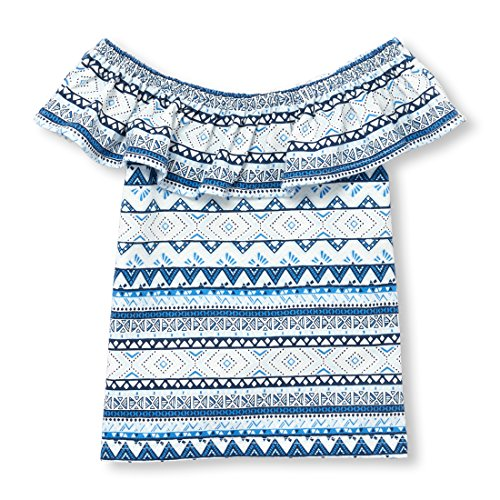 The Children's Place Baby Girls' Off Shoulder Top, Party Blue 98162, 3T