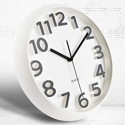 MUTANG 3D Number Display Stereo Clock Wall Clock Living Room Modern Minimalist Bedroom Creative Mute Clock