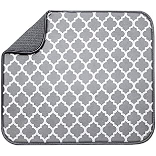 Yinew Dish Drying Rack & Microfiber Dish Mat - Space-Saving Lightweight Design Folds Up For Easy Storage