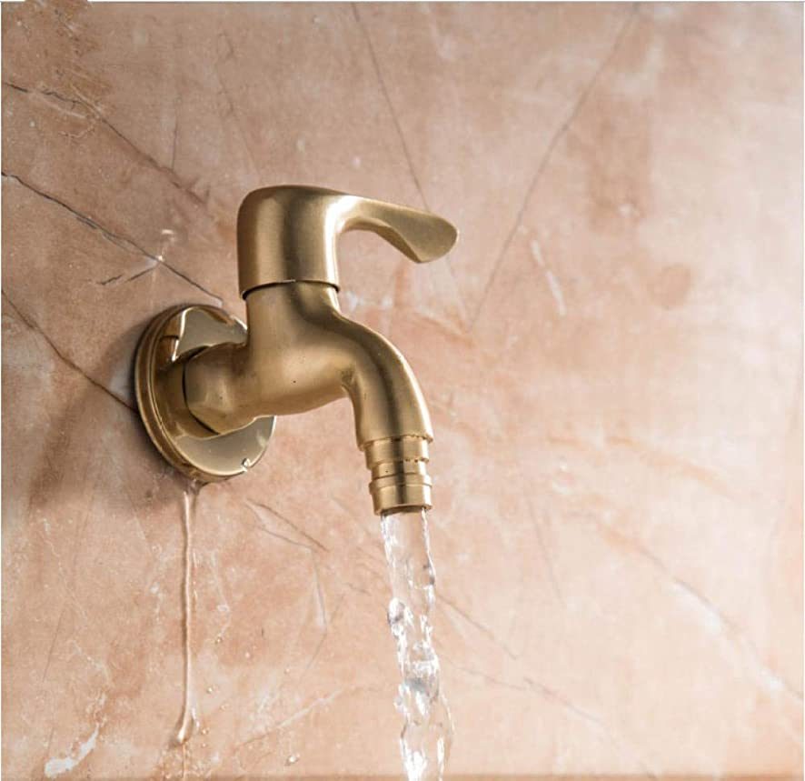 Faucet Antique Solid Brass Cold Water Wall Tap Garden Piscinas Long Washing Machine Water Tap Basin Faucet Bibcock Taps