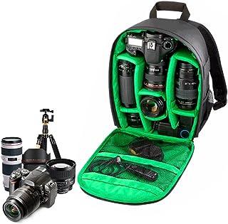 Yosoo Color Lining Camera Backpack Bag Rain Cover Waterproof DSLR Case for Canon Nikon Sony (Green)