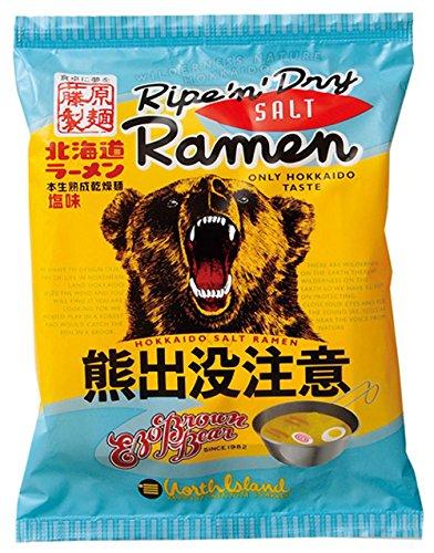 藤原製麺 北海道熊出没注意ラーメン 塩味 111g