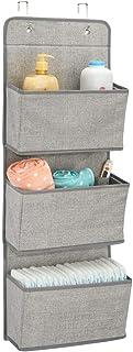 mDesign étagère de rangement avec 3 compartiments – meuble de rangement en tissu pour peluches, couches ou serviettes de b...