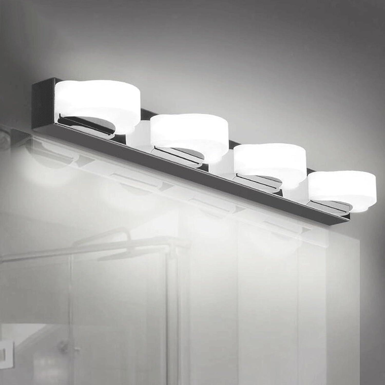 Edelstahl-wasserdichte Nebel-wasserdichte Badezimmer-Wand-Lampen-Mode-Persnlichkeits-kreativer Spiegel-Kabinett-Spiegel-Lampen-Schlafzimmer-Studien-Lampe (Farbe   Warmes Licht-4 light sources)