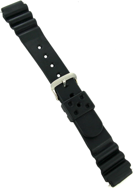 20mm Kreisler Polyurethane Soft Flexible El Paso Mall Lasting Watc New product type Black Long