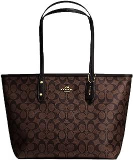 SALE ! New Authentic COACH Signature C Monogram Elegant Shoulder Bag in Brown Black