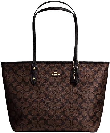 58fa29f21174 SALE ! New Authentic COACH Signature C Monogram Elegant Shoulder Bag in  Brown Black