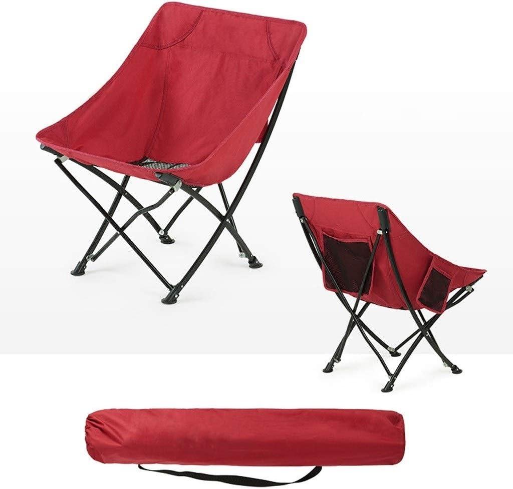Chaise Longues De Plein Air Chaises De Camping Compact Ultra-léger Pliant Chaises De Randonnée À Toute Épreuve Directeurs Porte-gobelet (Color : Red) Red