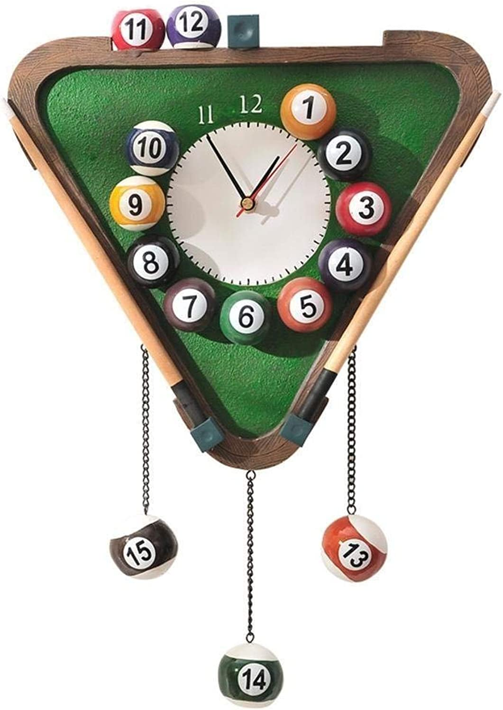 mejor opcion ZBXFF Creatividad Billiard Art Reloj De Digital Moderno,Reloj De De De Parojo De Moda Billar,Mute El Reloj De Parojo De Billar,Reloj Creativo De La Personalidad Billar,Reloj De Parojo De Billar verde De 31Cm  Nuevos productos de artículos novedosos.