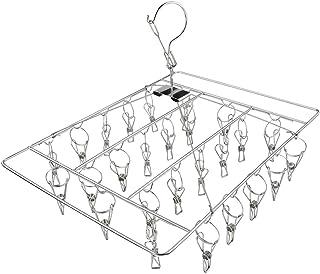 ピンチハンガー 洗濯物干し 靴下ハンガー 30 ピンチ オールステンレス製 隠し干し 洗濯ハンガー 横約41cm×縦約30cm×高さ約29cm