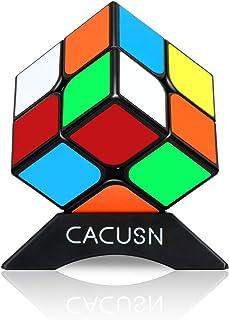 CACUSN 立体パズル 令和進化版進化型 回転スムーズ 競技用キューブ 世界基準配色 スタンド付き (1個(2×2))