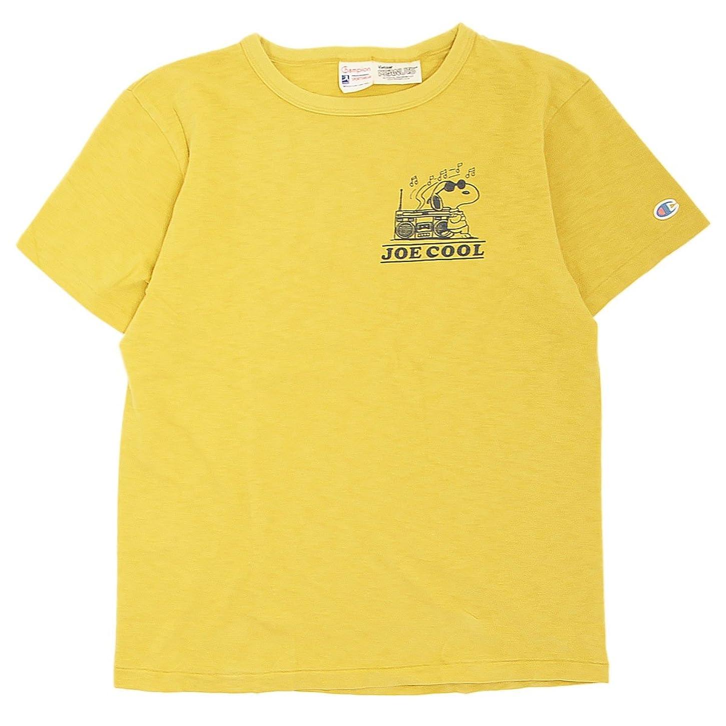 栄光の市の中心部秘書(チャンピオン) Champion ROCHESTER x Vintage PEANUTS スヌーピーTシャツ コラボ 国内正規品 レトロイエロー C9-M303-573