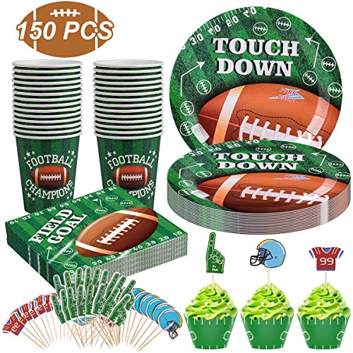 Cheapest Prices! Football Party Supplies for Super Bowl Party Decorations, Including 25 Plates, 25 C...