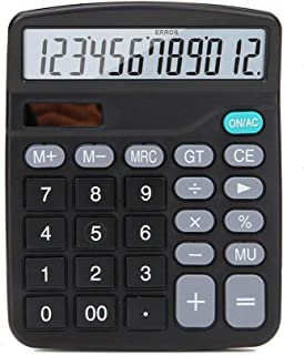 DISS Calculator Solar Dual Power Office Financial Accounting Calculator 12-bit LED Screen HD Display Clear Protection Eye ...