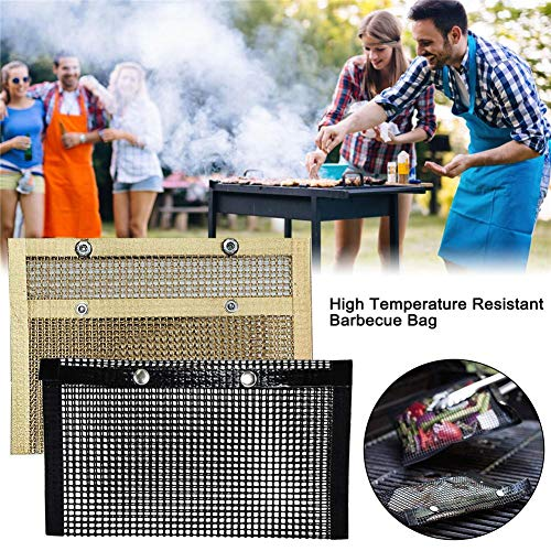 Read About Dailyfun Non-Stick Baking Grilling Mesh Bag BBQ Baked Bag,Reusable and Easy to Clean, for...