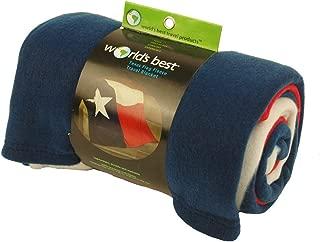 World's Best Cozy Soft Microfleece Travel Blanket, Texas Flag,