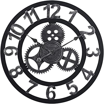Amazon Com Lightinthebox 3d Decor Wall Clocks Retro Wooden Clocks
