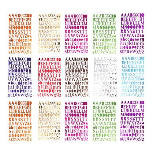 Supvox 15 fogli adesivi per lettere adesivi autoadesivi colorati con lettere dalla A alla Z autoadesivi per lettere