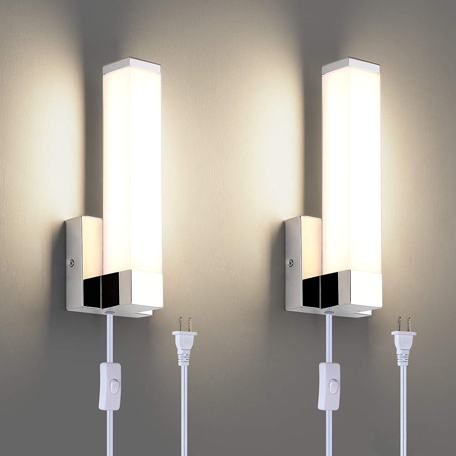 Joosenhouse Modern Sales LED Wall Lamps Set Bathroo Plug 12W of Two OFFicial mail order in