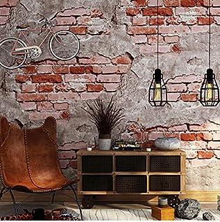 Papier peint style r/étro industriel am/éricain gris Papier peint intiss/é Couleur unie Pour chambre dh/ôtel