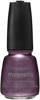 China Glaze Nail Lacquer With Hardeners - 14 Ml, Draw To You Magnetix - Purple